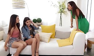 Let's accomplish redness on your mom's ottoman! - cassidy klein, reena feel together with adria rae
