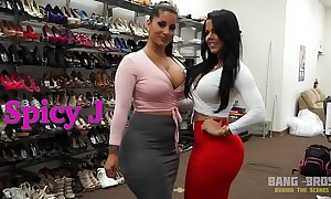Bangbros - upbringing close by latina chicks spicy j and diamond kitty