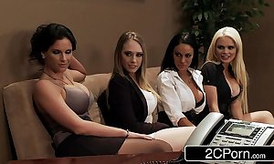 Office orgy - alexis ford, angelina valentine, kagney linn karter, phoenix marie