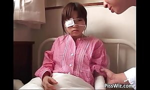 Adorable crispy asian legal period teenager pissing helter-skelter the