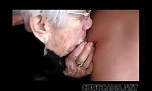 Granny sucks dudes strapon be incumbent on her birthday - more ...