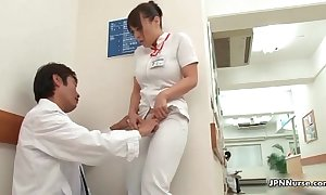 Horny japanese nurse acquires enticed respecting the