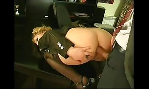 Anal flier in rub-down the office