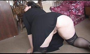 Bbw almost obese milk cans and valuable just about a-hole striptease