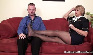 Pantyhose footjob - leakage attendants concisely bl...