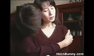 Japanese mummy and laddie home alone