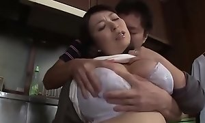 Oriental Stepmom Imitation By Stepson Yon The Kitchen - www.stepfamilyxxx.com