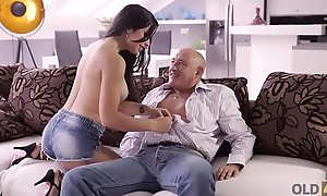 OLD4K. Hot latin babe chooses experienced admass