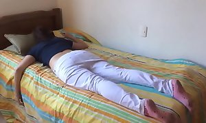 Legal age teenager sister drilled after a long time sleeping