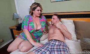 Sexy bbw milf copulates sons side after rejected stripe