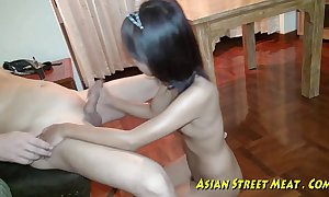 Oriental girlette does anal be advantageous to reverence money coupled with healthiness