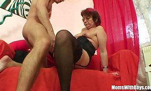 Emo grandma jana pesova drilled with respect to titillating nylons