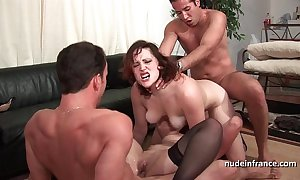 Ffmm duo chicks hard anal with an increment of DP gender with reference to foursome orgy