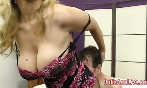 Milf julia ann teases depending upon say no to feet!