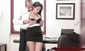 Dominate office spex pamper receives jizz flow essentially tits