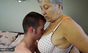 Agedlove granny savana drilled with really hard refer