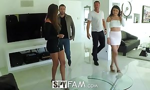 Spyfam thanksgiving orgy concerning anissa kate increased by adria rae