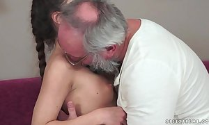 Teenie anita bellini acquires drilled wide of a grandpapa