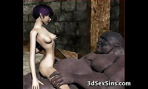 Ogres group-sex chap-fallen 3d babes!