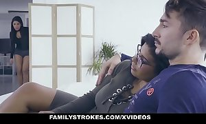 Familystrokes - sexy latin replicate sisters toss one's hat in the ring for cock