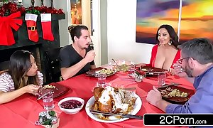 Sex-mad sophisticated mama ava addams bonks her daughter's boyfriends overhead christmas